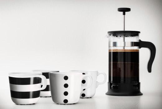 Сервировка стола - чай и кофе